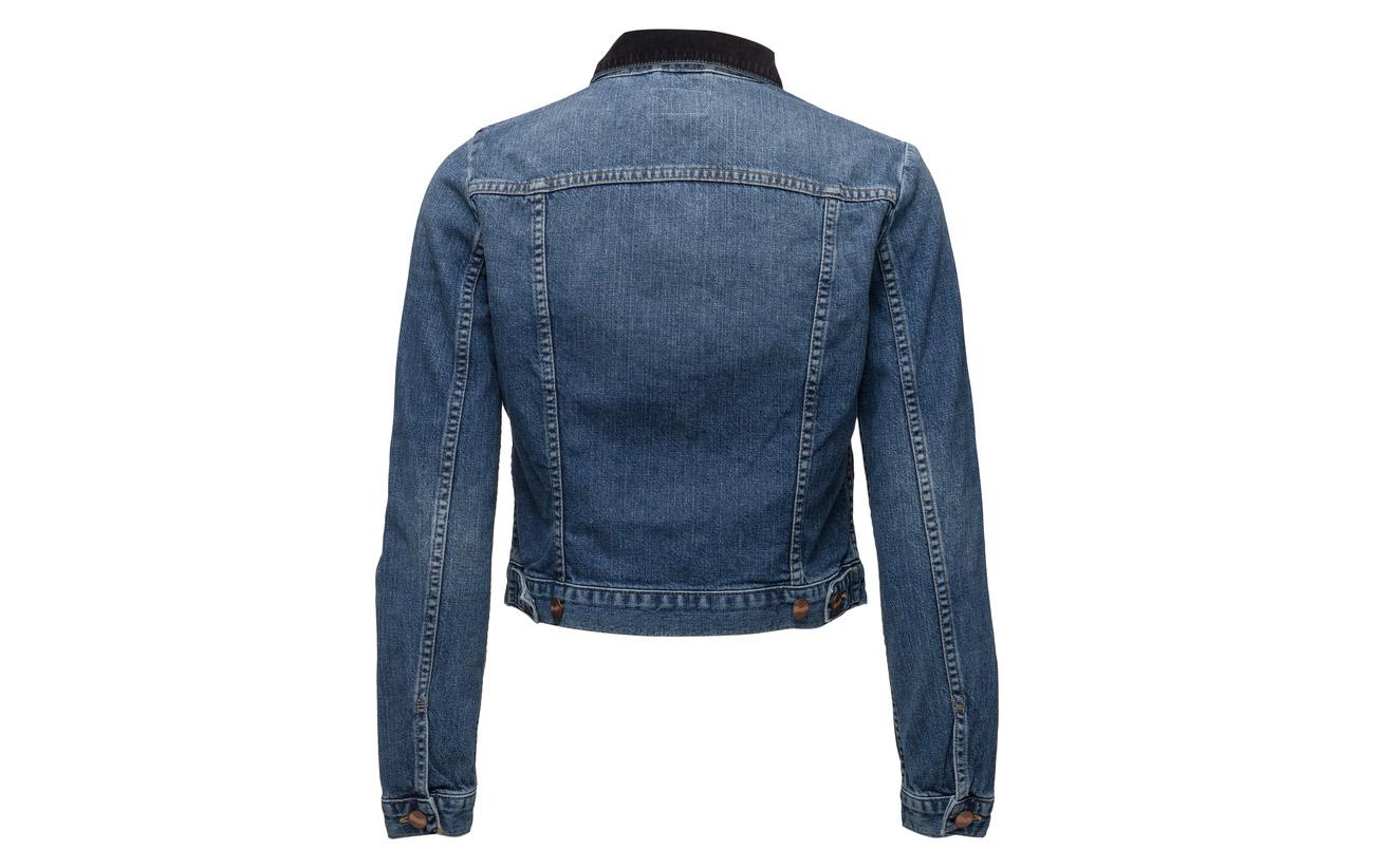 Coton Jacket Blondie Wrangler Blue Cropped 100 FgwnxXRn