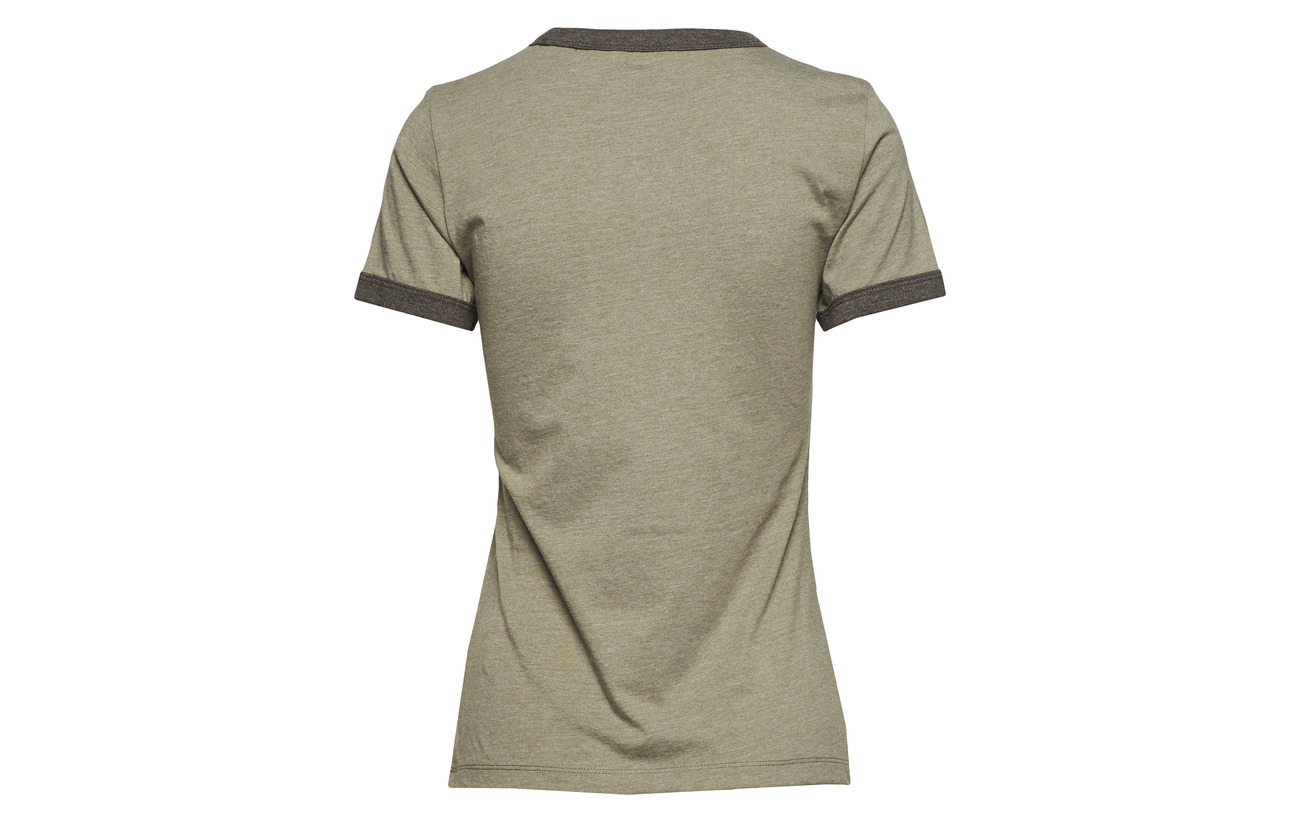 50 Wrangler Tee Ringer Olive Polyester Dusty Coton wAzICq