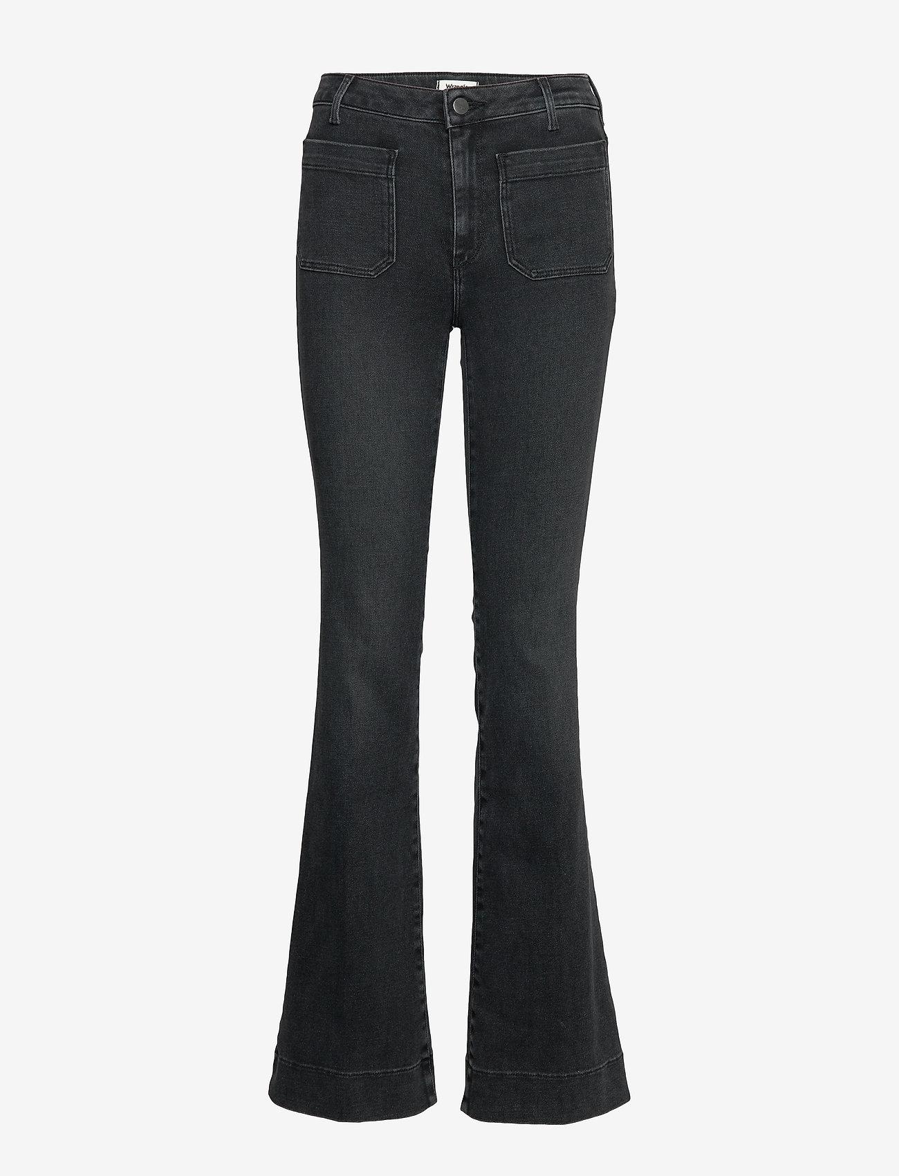 Wrangler - FLARE - flared jeans - black sea