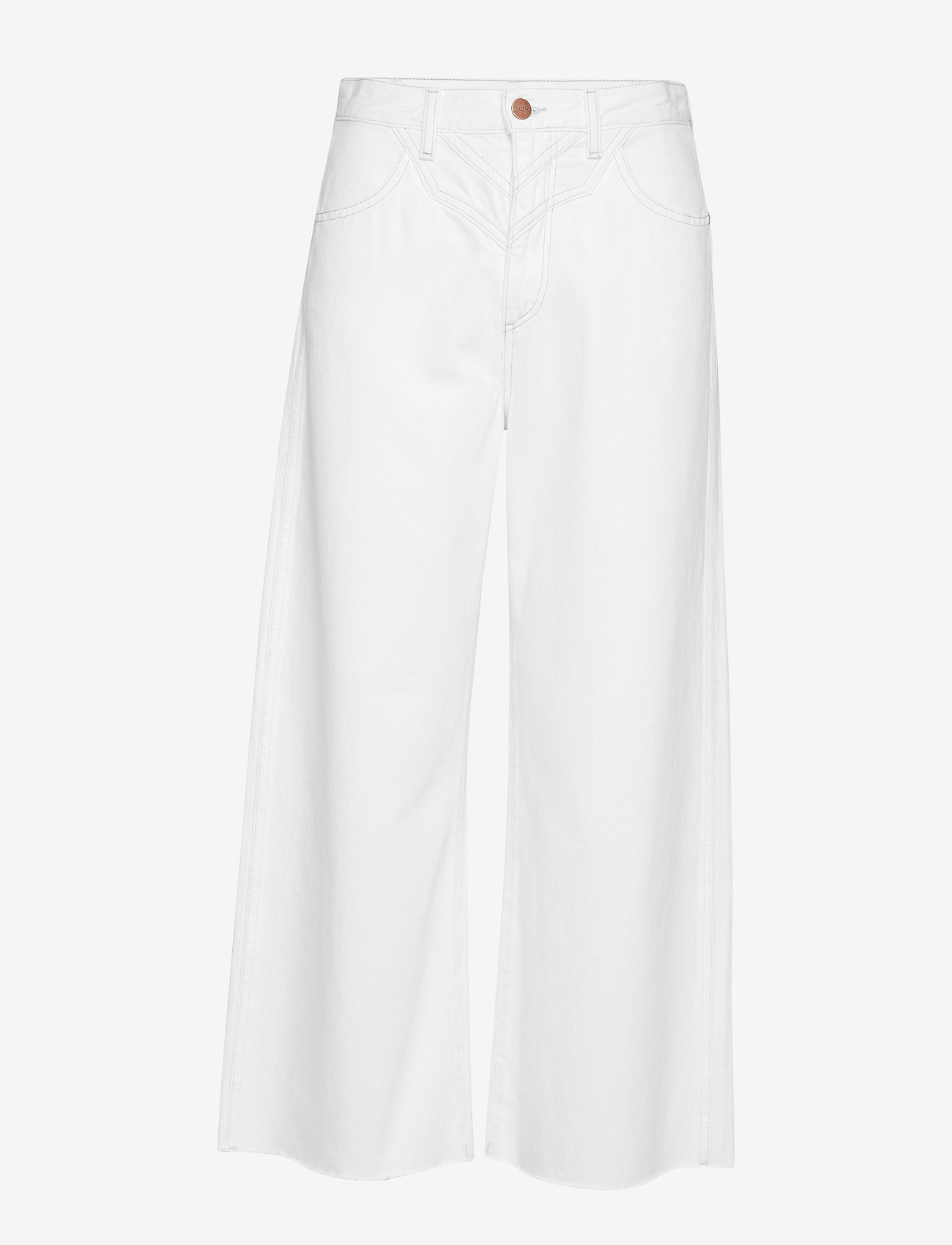 Wrangler - WESTERN CULOTTE - pantalons larges - vintage white