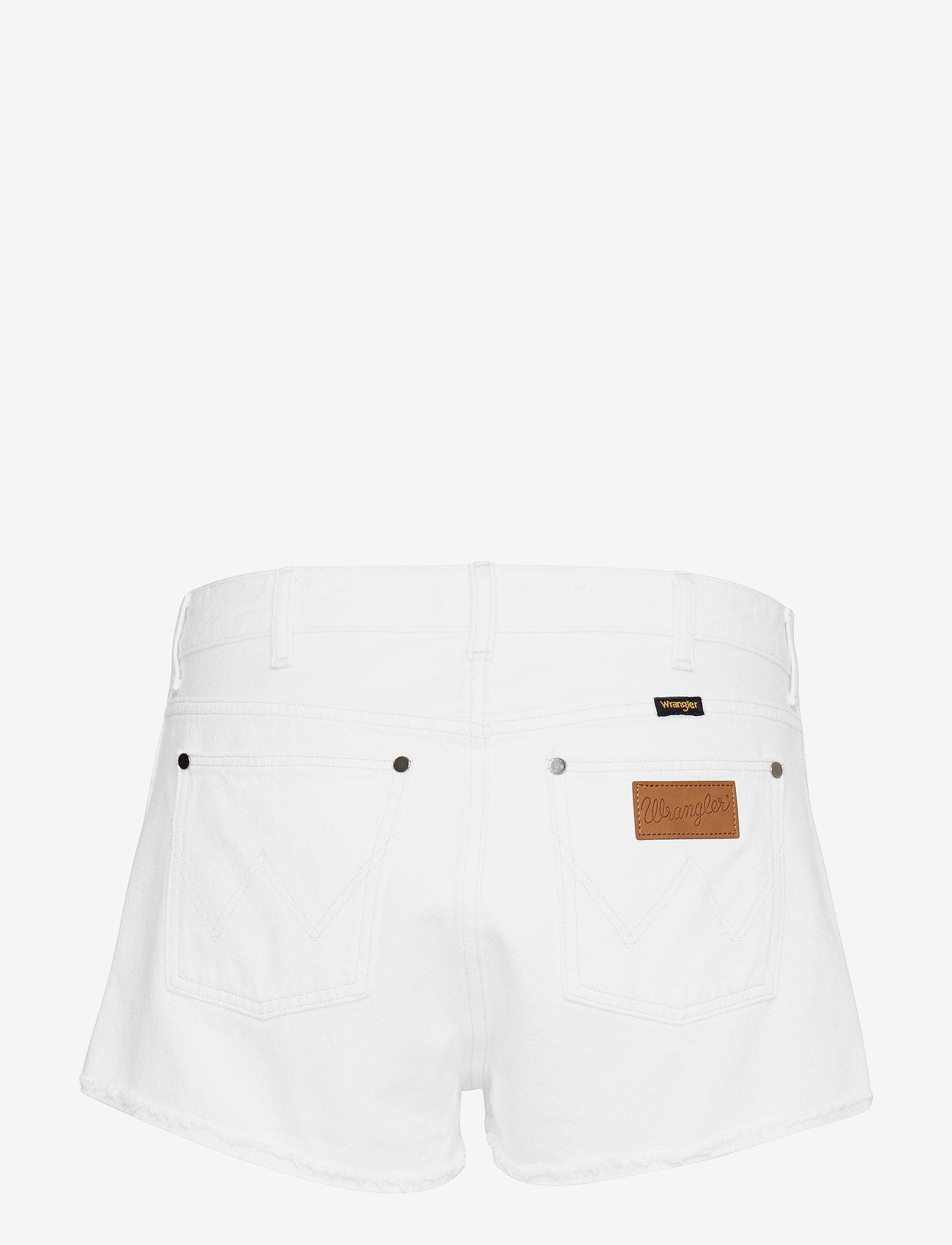 Wrangler - THE SHORT - korte jeansbroeken - vintage white - 1
