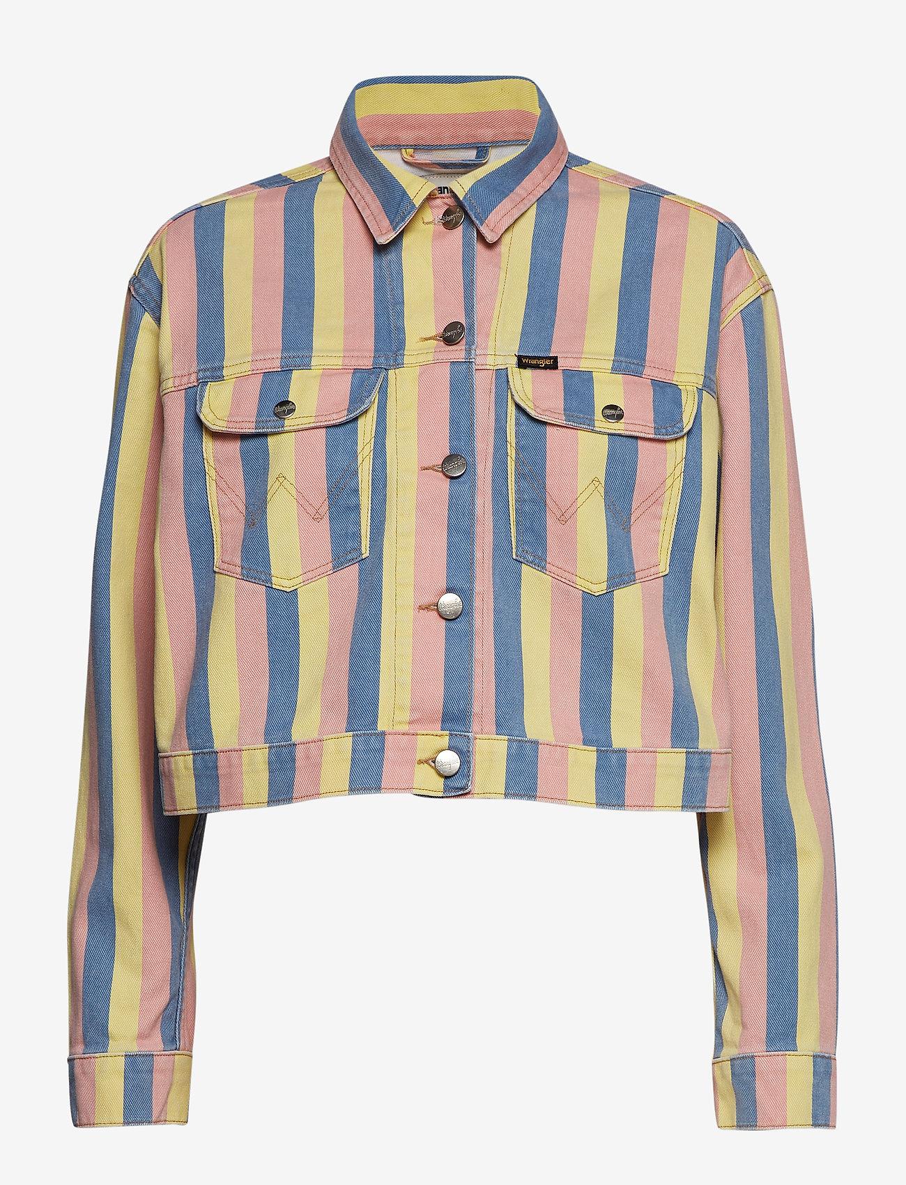 Wrangler - CROPPED JACKET - vestes en jean - sunny stripes