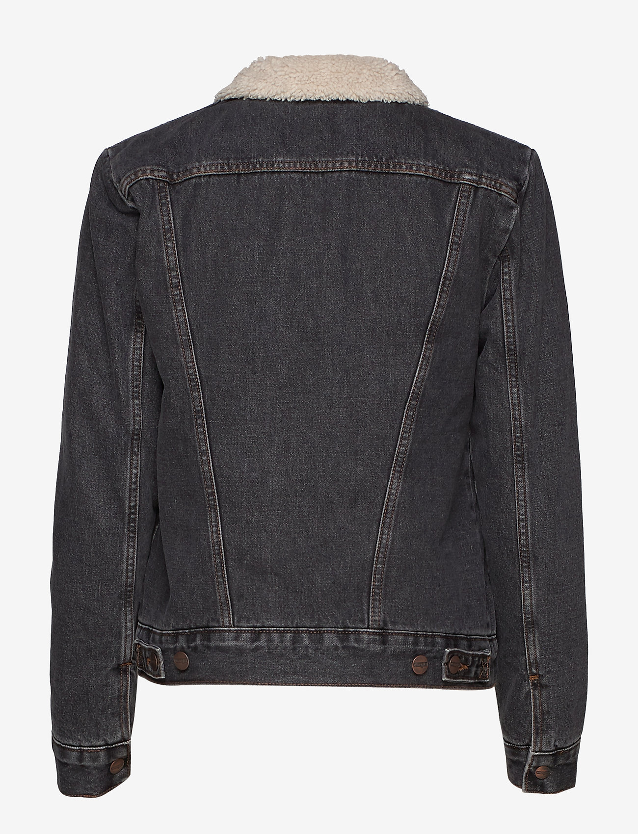 Wrangler - 124WJ SHERPA - jeansjackor - black 2 years - 1