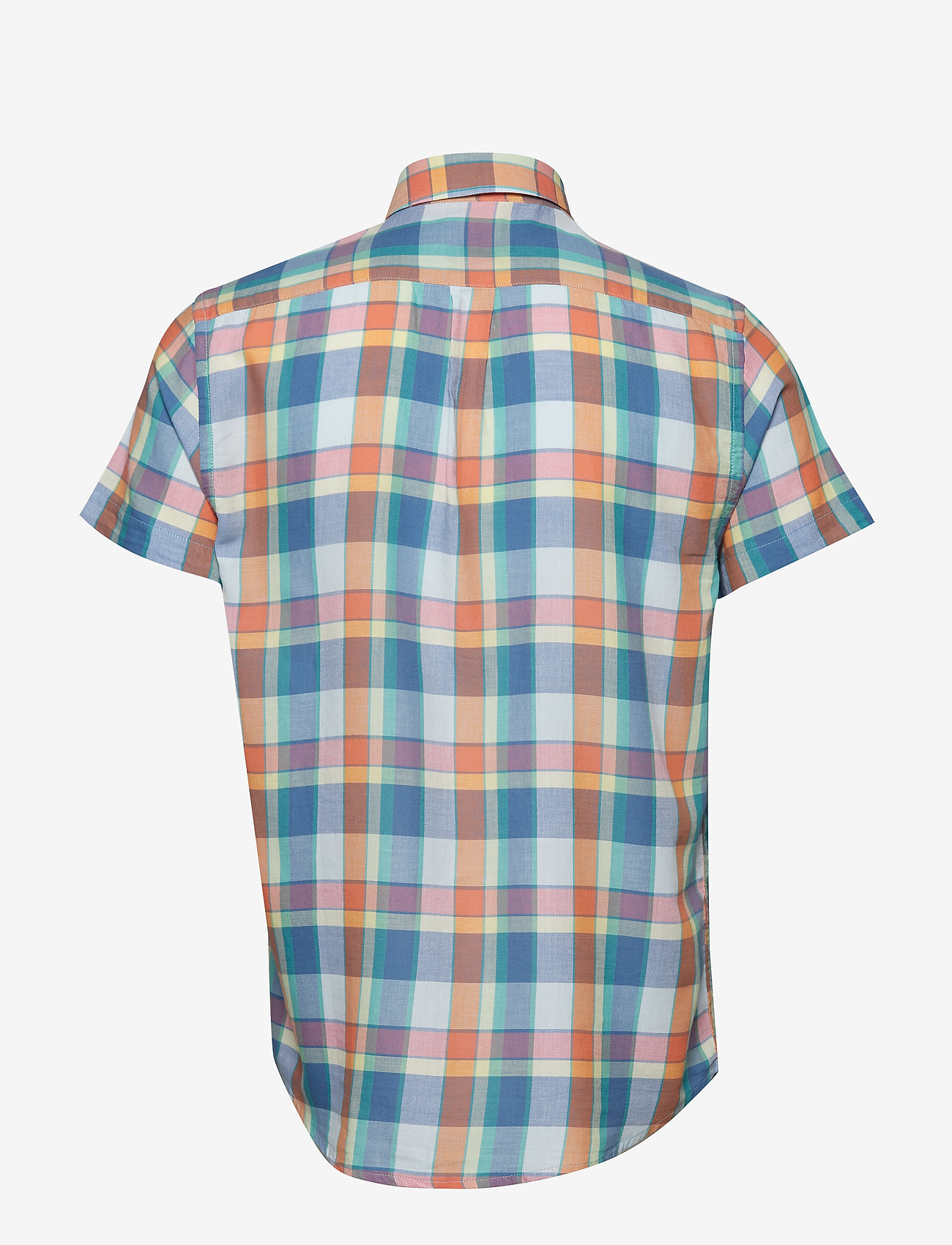 Wrangler - SS 1 PKT BUTTON DOWN - checkered shirts - tangerine