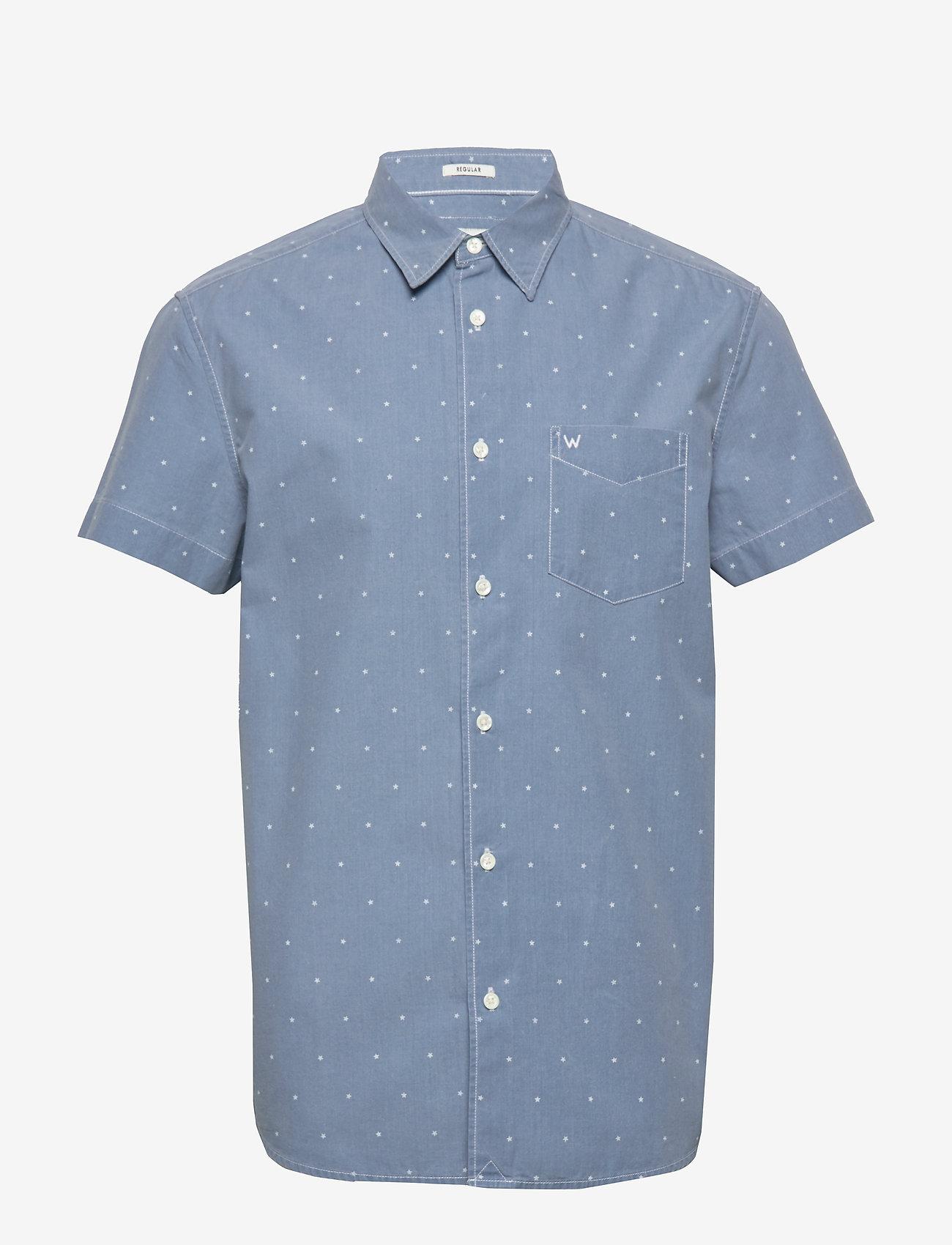 Wrangler - SS 1 PKT SHIRT - short-sleeved shirts - cerulean blue