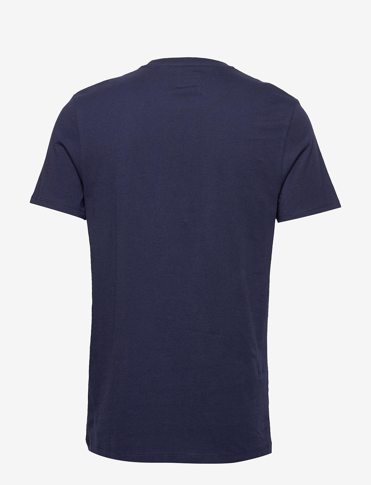 Wrangler SS LOGO TEE - T-skjorter NAVY - Menn Klær
