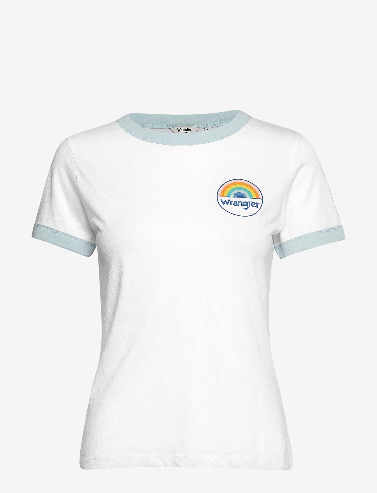 Wrangler - RINGER TEE - t-shirts imprimés - white