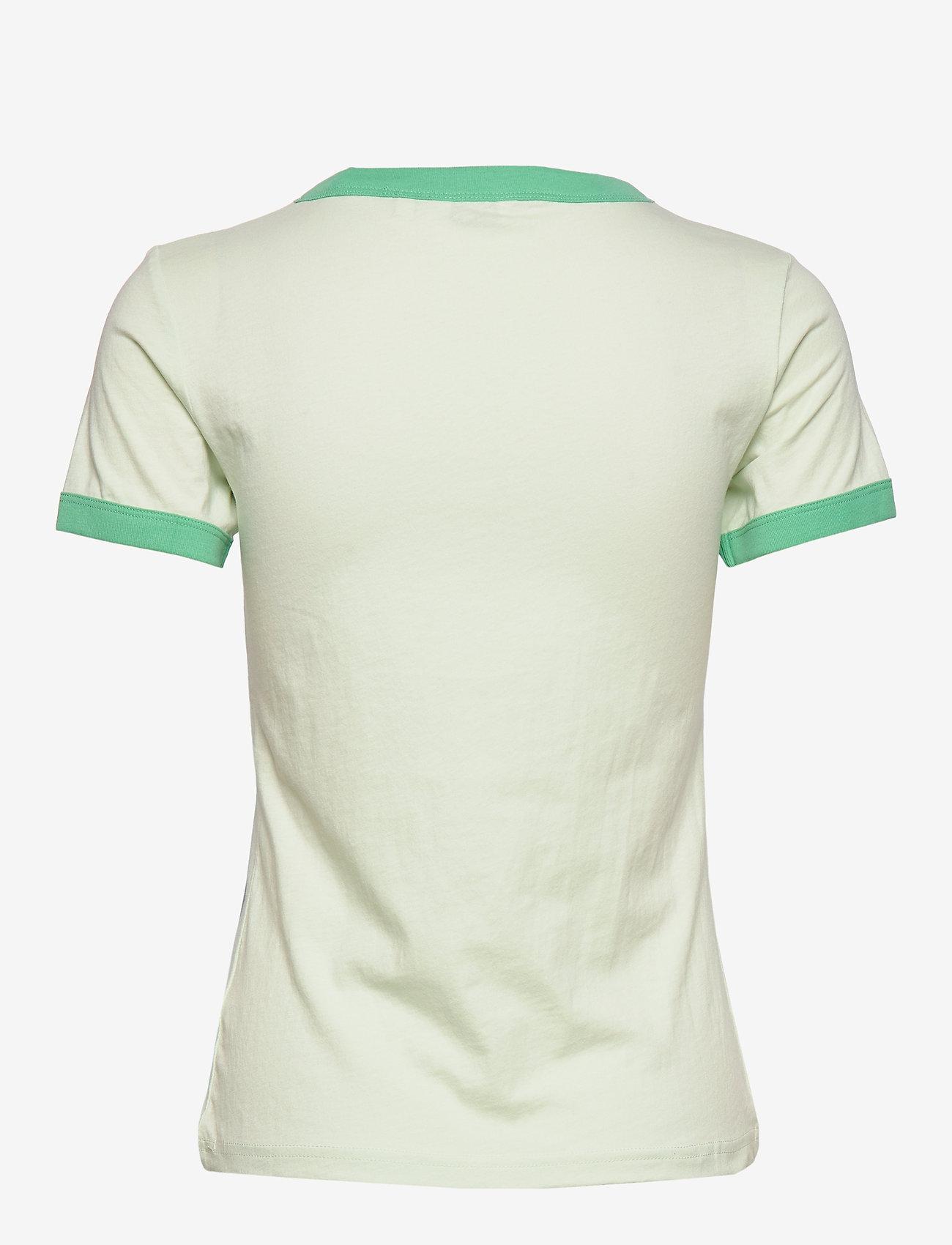 Wrangler - RINGER TEE - logo t-shirts - almost aqua