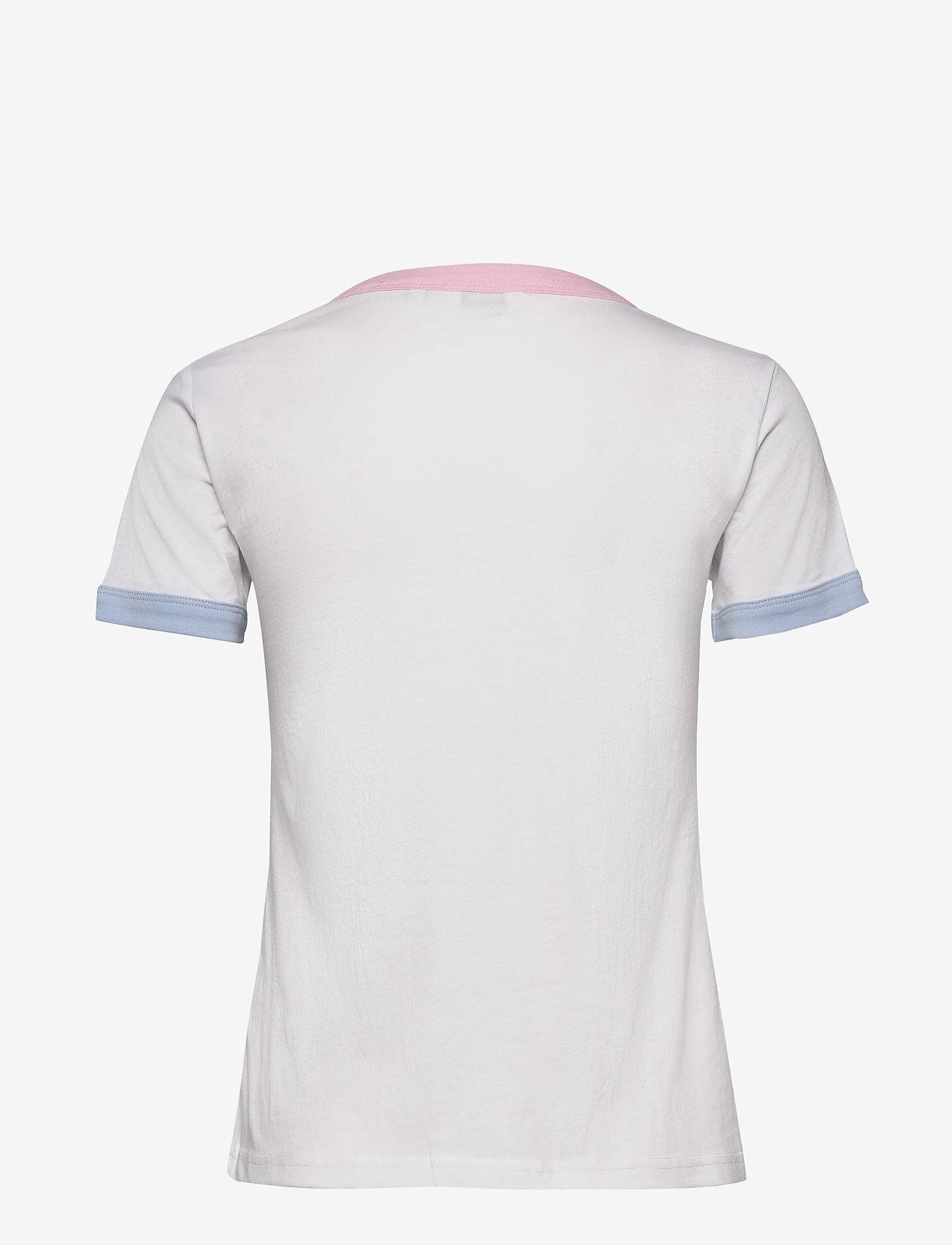 Wrangler - RINGER TEE - logo t-shirts - real white
