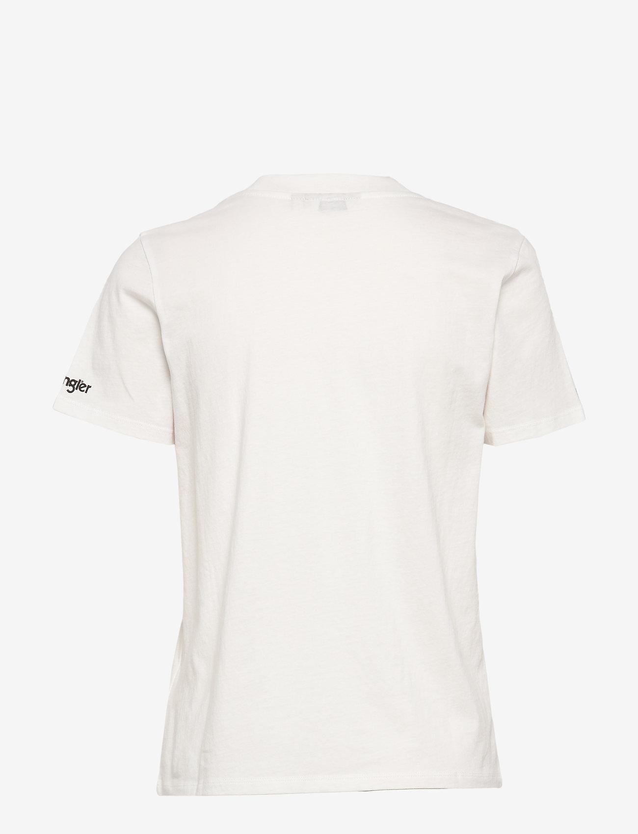 Wrangler - HIGH RIB REGULAR TEE - printed t-shirts - off white