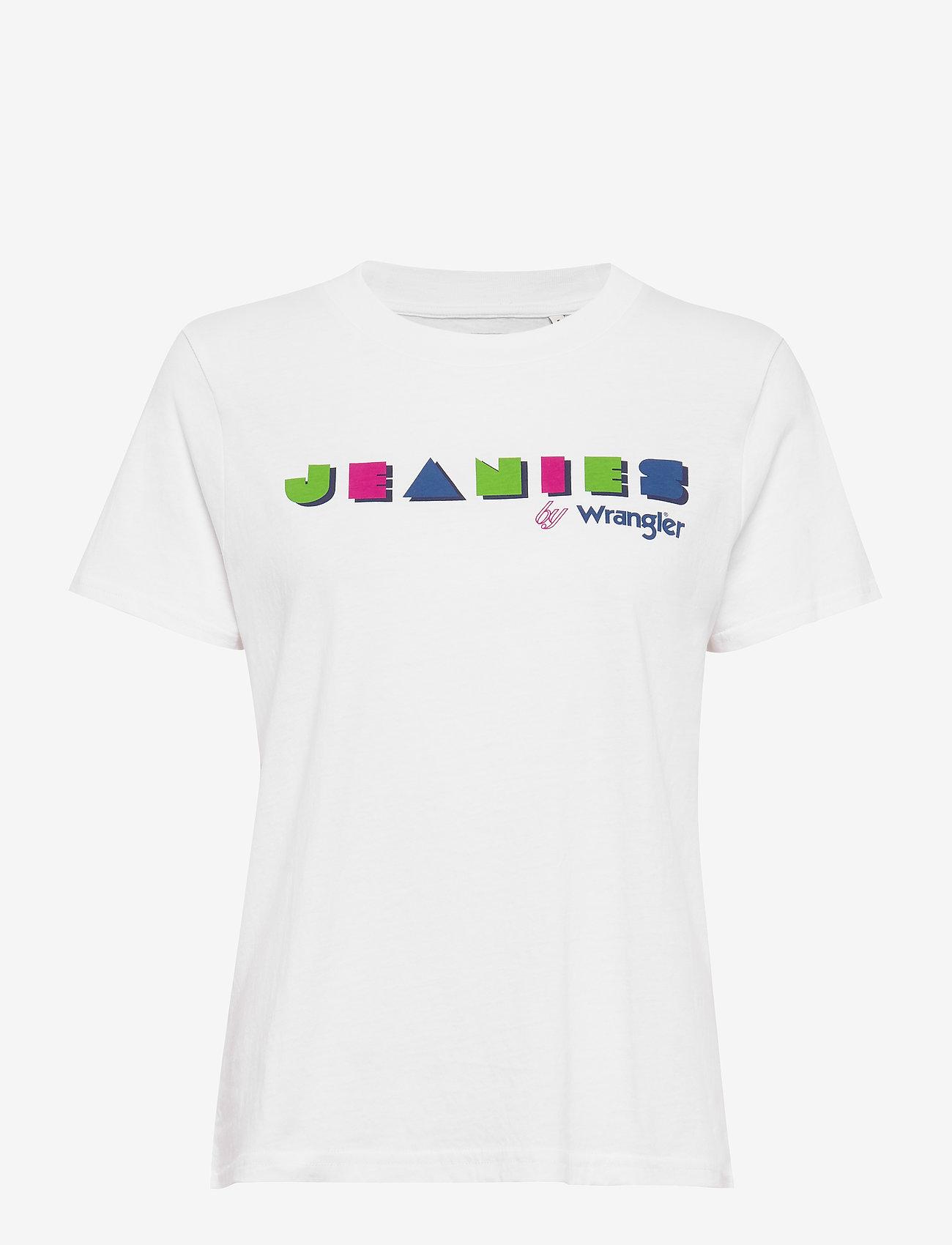 Wrangler - HIGH RIB REGULAR TEE - logo t-shirts - white
