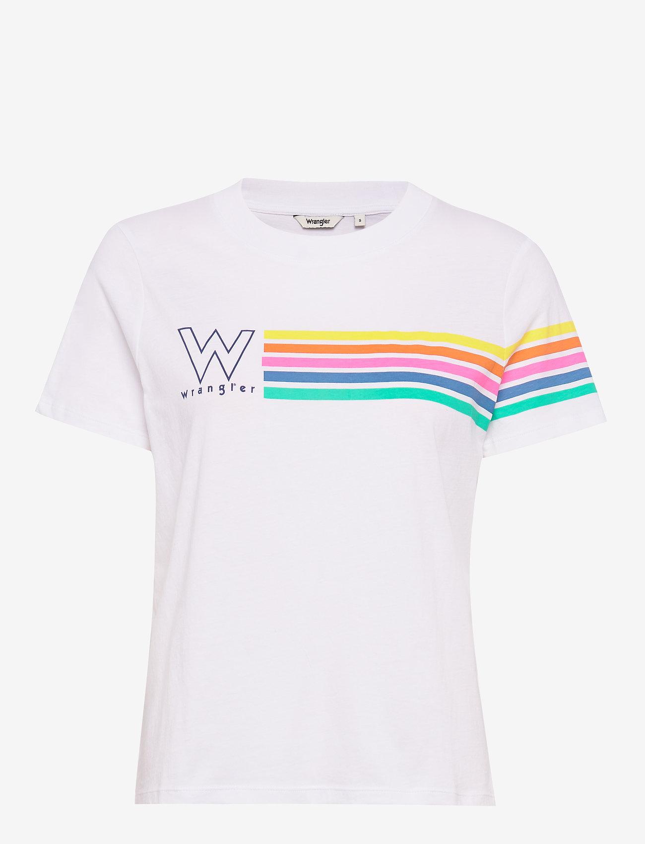 Wrangler - HIGH RIB REGULAR TEE - logo t-shirts - real white