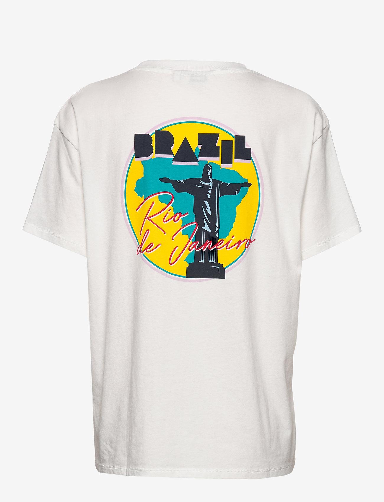 Wrangler - BOYFRIEND TEE - logo t-shirts - off white