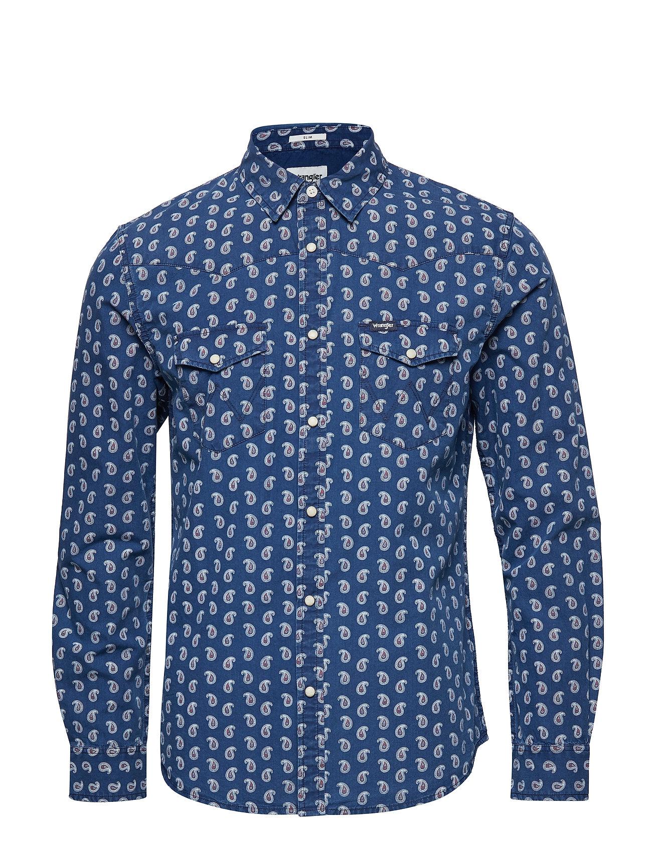 503e6dc913 Ls Western Shirt (Mid Indigo) (47.97 €) - Wrangler - | Boozt.com
