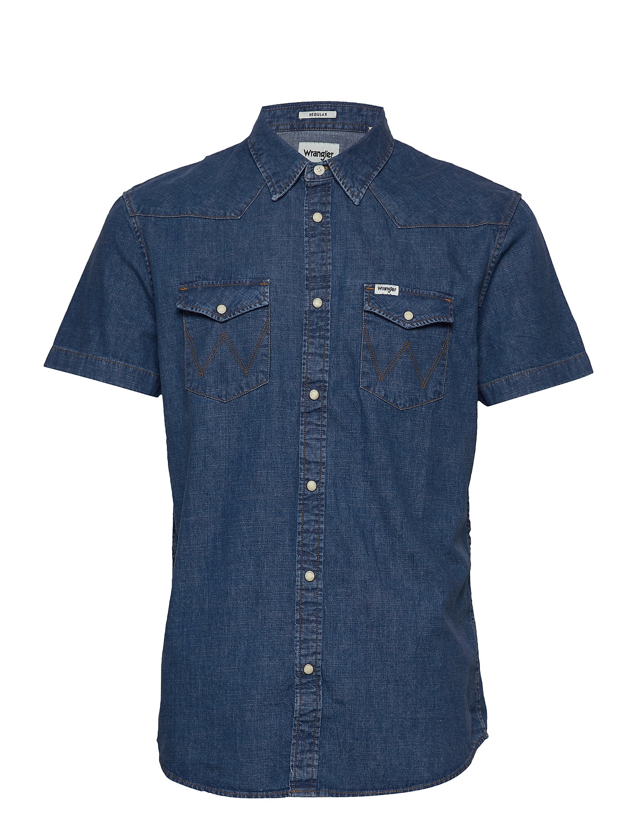 Wrangler SS WESTERN SHIRT - RED FLAME