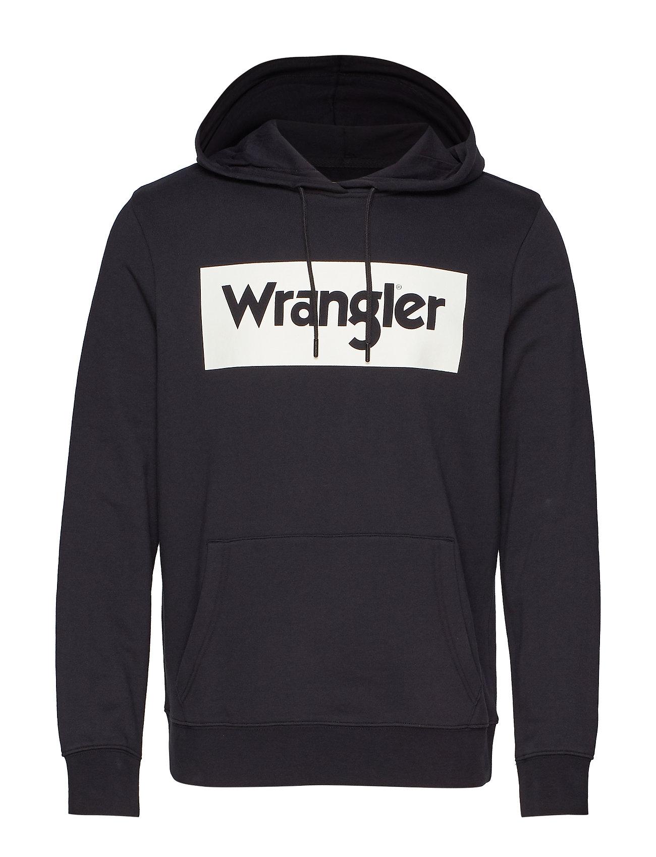 Wrangler LOGO HOODIE - BLACK