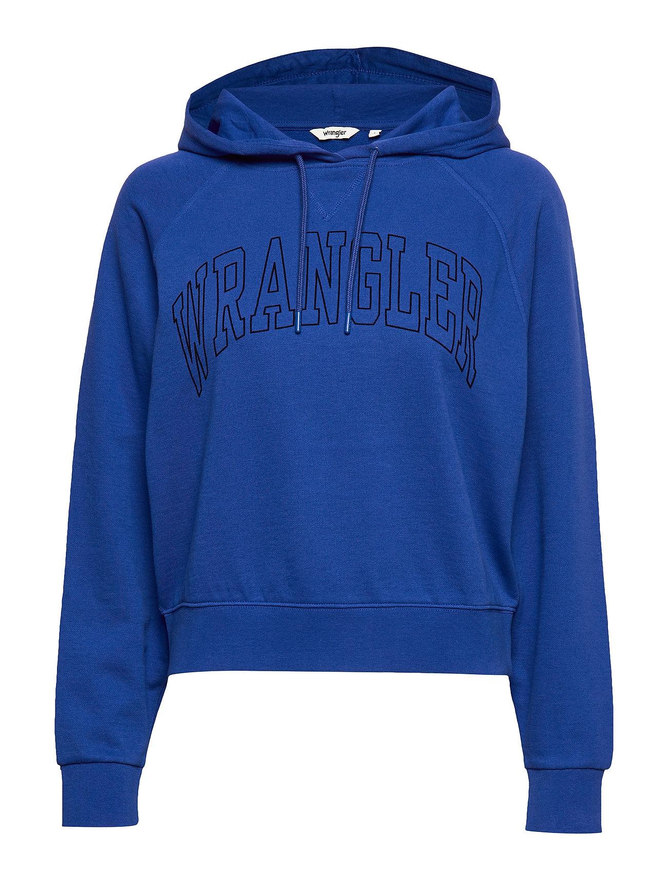Wrangler RETRO HOODY COBALT BLUE - COBALT BLUE