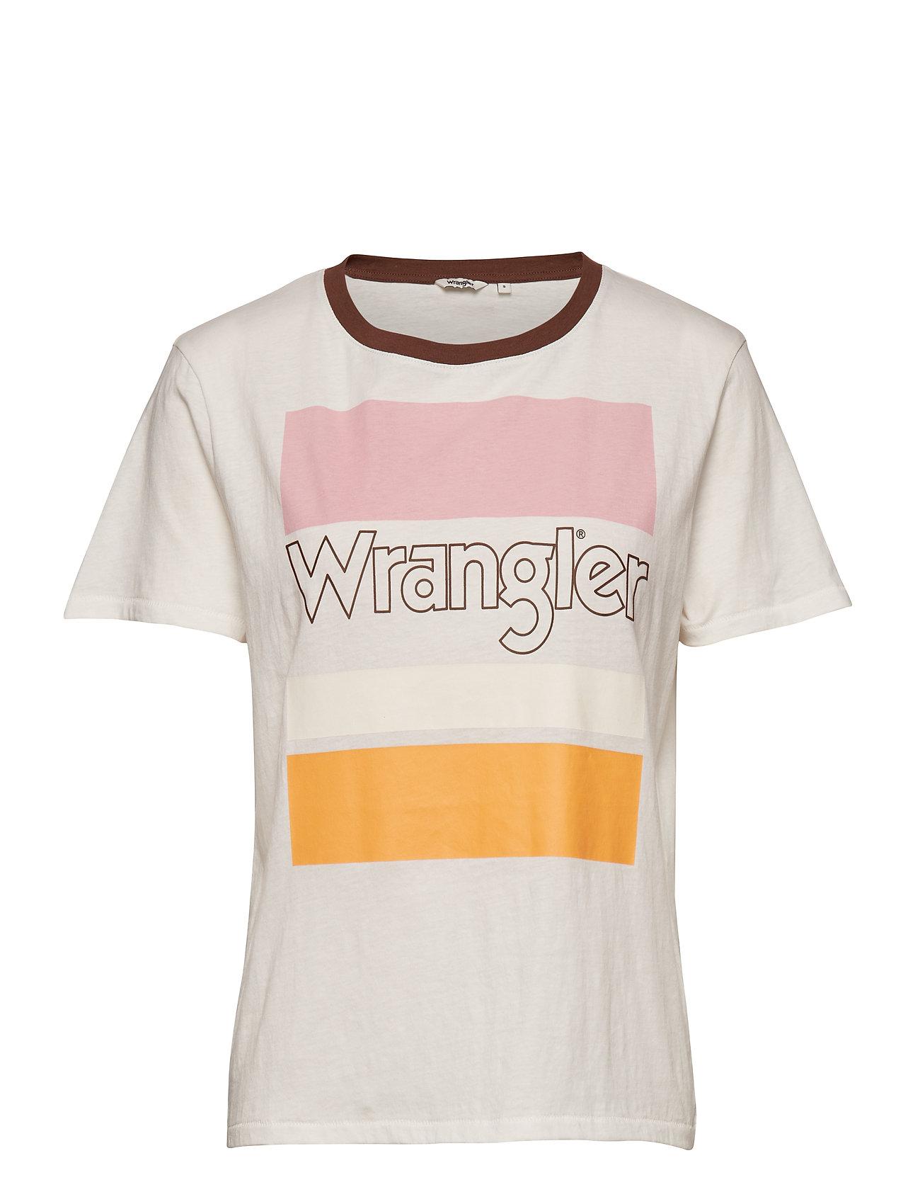 Wrangler FLAG TEE - OFFWHITE