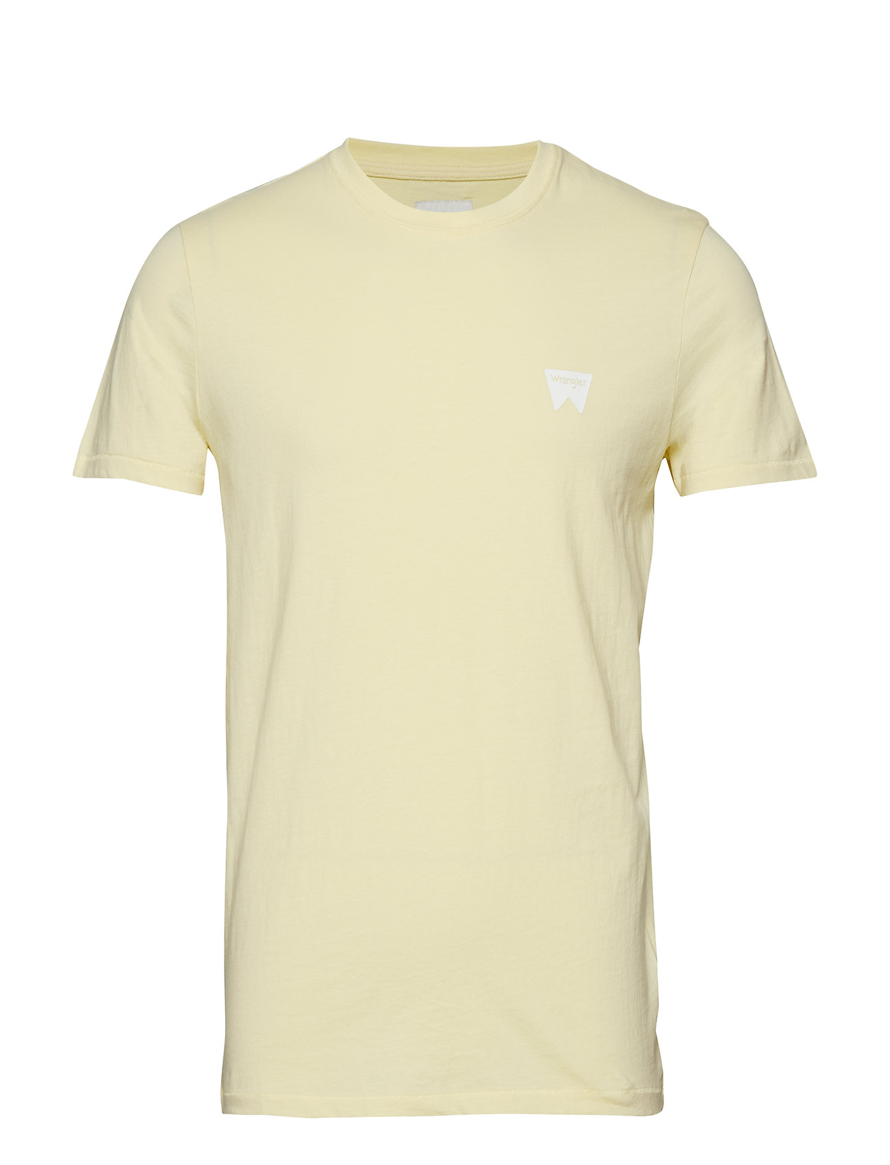 Wrangler SS SIGN OFF TEE - FRENCH VANILLA