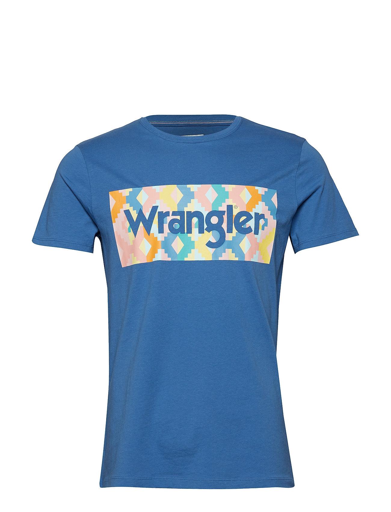 Wrangler SUMMER LOGO TEE - FEDERAL BLUE