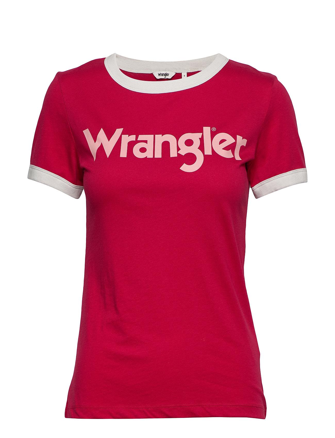 Wrangler RINGER TEE - MAGENTA RED