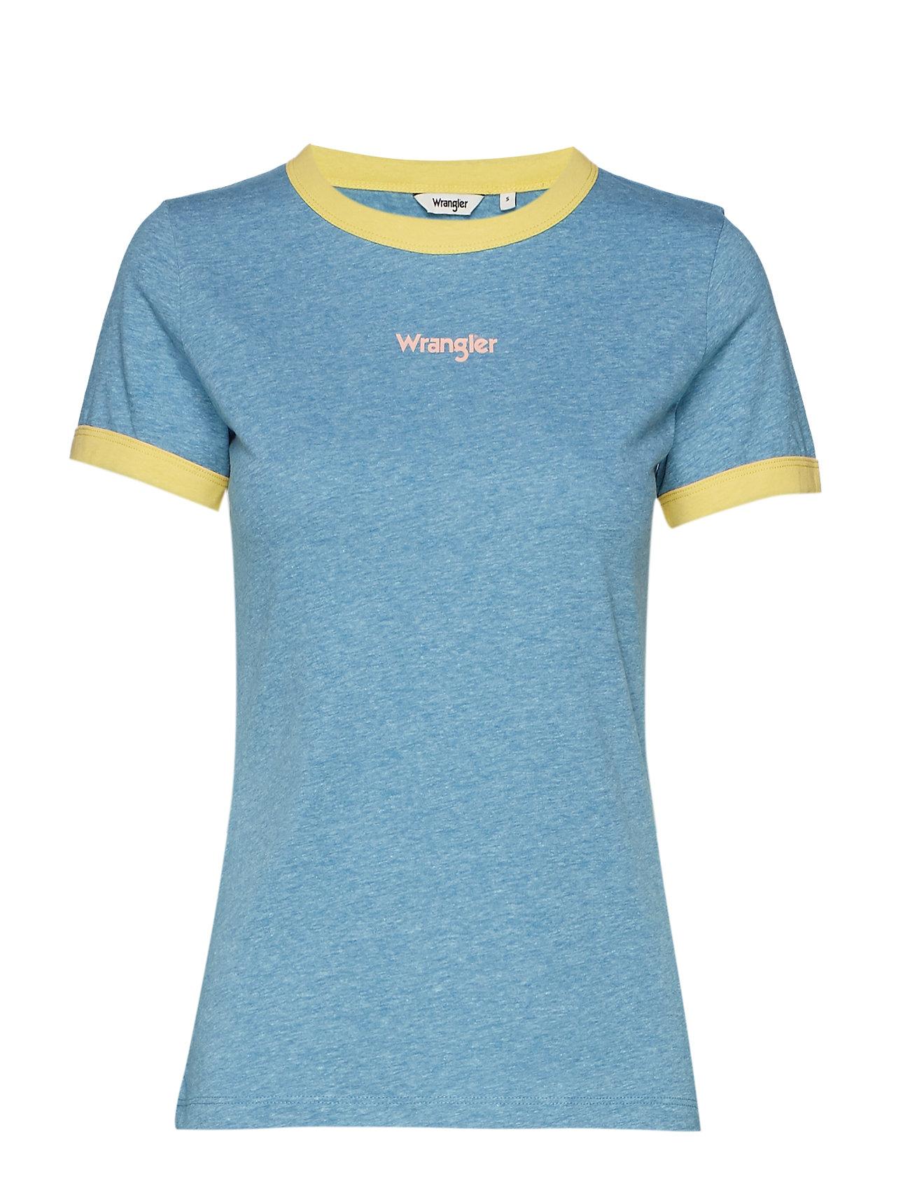 Wrangler RINGER TEE - NIAGARA BLUE