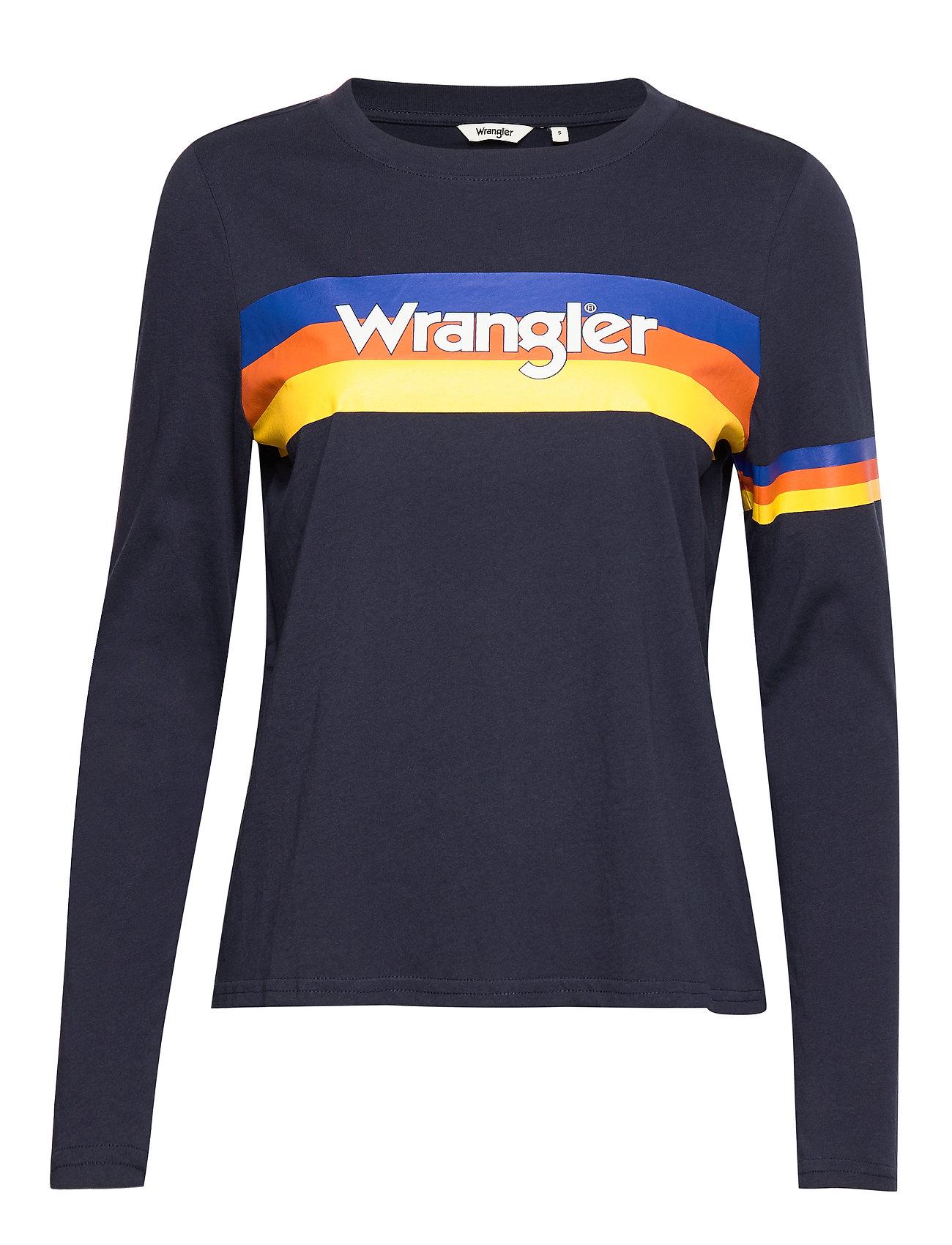 Wrangler RAINBOW TEE NAVY - NAVY