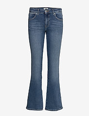 Wrangler - BOOTCUT - boot cut jeans - canary blue - 0