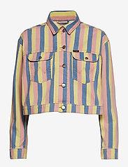 Wrangler - CROPPED JACKET - vestes en jean - sunny stripes - 0