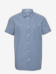 Wrangler - SS 1 PKT SHIRT - short-sleeved shirts - cerulean blue - 0