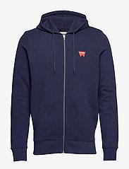 Wrangler - SIGN OFF ZUPTHRU - hoodies - navy - 0