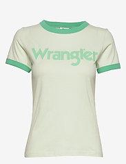 Wrangler - RINGER TEE - logo t-shirts - almost aqua - 0