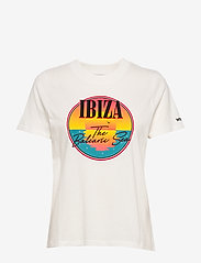 Wrangler - HIGH RIB REGULAR TEE - printed t-shirts - off white - 0