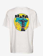 Wrangler - BOYFRIEND TEE - logo t-shirts - off white - 1
