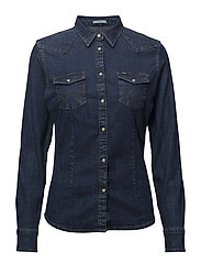 SLIM WESTERN SHIRT - DARK STONE