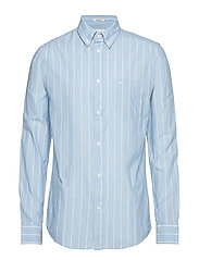 LS 1PKT BUTTON DOWN - CERULEAN