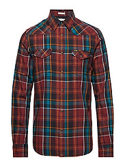 LS WESTERN SHIRT - MADDER BROWN