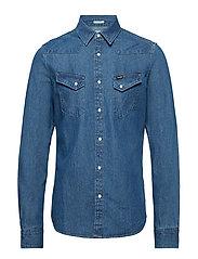 e6cd545b5b8 Western Denim Shirt (Grn Tint Indigo) (£94) - Wrangler -