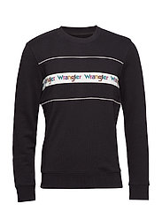 TAPED CREW SWEAT - BLACK