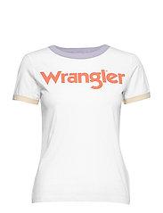 RINGER TEE - WHITE