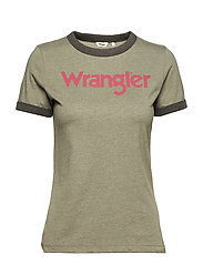 RINGER TEE - DUSTY OLIVE