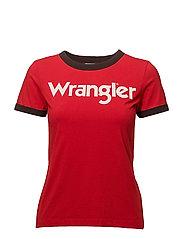 RINGER TEE - FORMULA RED