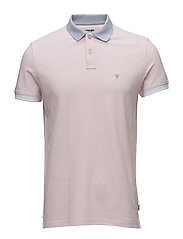 CONTRAST POLO - CHALK PINK