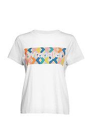 Regular Rib Tee T-shirts & Tops Short-sleeved Hvit WRANGLER