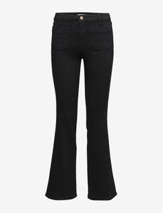 FLARE - utsvängda jeans - retro black