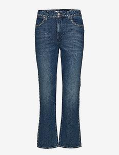 RETRO STRAIGHT - utsvängda jeans - jolly green