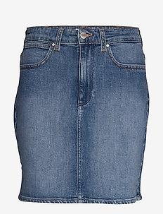 MID SKIRT - jeansröcke - mid blue