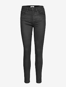 HIGH RISE SKINNY COATED BLACK - COATED BLACK