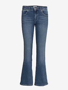 BOOTCUT - boot cut jeans - canary blue