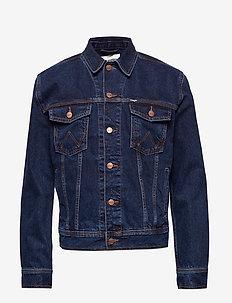 AUTH WESTERN JACKET BLUE - denim jackets - blue black